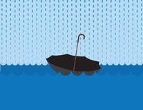 Umbrella Floating Rain royalty free illustration