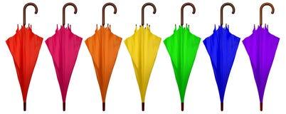 Umbrella folded- Colorful Stock Image
