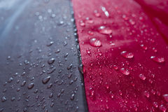 Umbrella. Foreground of wet umbrella Royalty Free Stock Image