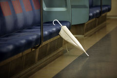 Umbrella. Forgotten in the Tokyo subway. Japan Stock Image