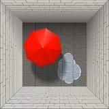 Umbrella of four brick walls Stock Images
