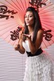 Umbrella girl Royalty Free Stock Photo