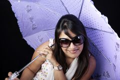 Umbrella girl Stock Photos