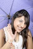 Umbrella girl Stock Photography