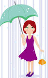 Umbrella girl Stock Photo