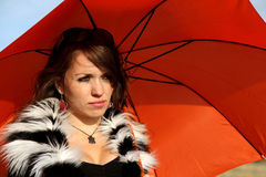 Umbrella Girl Royalty Free Stock Photos