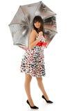 Umbrella girl Stock Photos