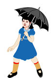 Umbrella with girl Royalty Free Stock Photography