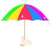 Umbrella in hand Stock Photography