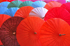 Umbrella. Handicraft items made of paper Stock Photo