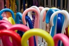 Umbrella handles Stock Photos