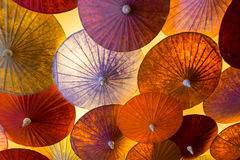 Umbrella hanging on ceiling Royalty Free Stock Photography