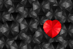 Umbrella heart concept Stock Images