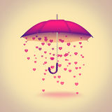 Umbrella with hearts Stock Images