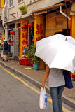Umbrella in the street in Malaysia Royalty Free Stock Images