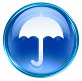 Umbrella icon blue Stock Photography