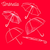 Umbrella icon. Rain protection symbol. Umbrella icon. Set of Umbrella sign icon. Rain protection symbol stock illustration