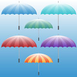 Umbrella Icon Set Royalty Free Stock Photography