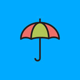 Umbrella Icon Vector Illustration royalty free stock photography