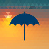 Umbrella icon. Royalty Free Stock Photography