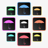Umbrella icons Royalty Free Stock Photography