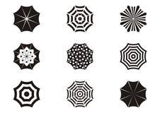 Umbrella icons Stock Image