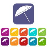 Umbrella icons set Royalty Free Stock Photo