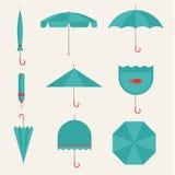 Umbrella icons Stock Photography