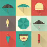 Umbrella icons Stock Images
