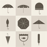 Umbrella icons Stock Photography