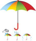 Umbrella illustration Stock Photography