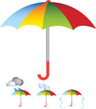 Umbrella illustration Stock Images