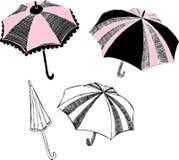 Umbrella Illustration. Illustration of umbrella design elements isolated on white background Royalty Free Stock Photos