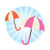 Umbrella Illustration Stock Photo