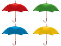 Umbrella isolated. Color Set. Vector illustration Royalty Free Stock Images