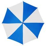Umbrella isolated- Light Blue-White Royalty Free Stock Photo