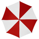Umbrella isolated- Red-White Royalty Free Stock Photography