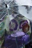 Umbrella and Kimono Royalty Free Stock Images