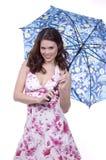 Umbrella Lady Stock Photos