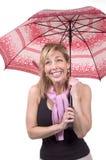Umbrella lady Royalty Free Stock Image