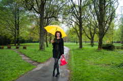 Umbrella and lady Royalty Free Stock Photos