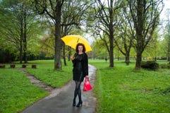 Umbrella and lady Royalty Free Stock Photos