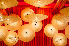 Umbrella lamp lighting Royalty Free Stock Photos