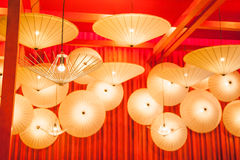 Umbrella lamp lighting Stock Image