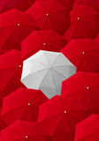 Umbrella, leader, unique, boss, individuality, original, special Royalty Free Stock Photos