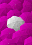 Umbrella, leader, unique, boss, individuality, original, special Royalty Free Stock Images