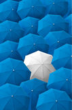 Umbrella, leader, unique, boss, individuality, original, special. Stock Photography