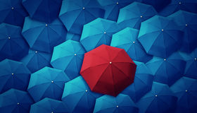 Umbrella, leader, unique, boss, individuality, original, special Royalty Free Stock Photography