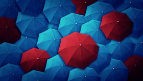 Umbrella, leader, unique, boss, individuality, original, special Royalty Free Stock Image