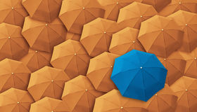 Umbrella, leader, unique, boss, individuality, original, special Stock Photo